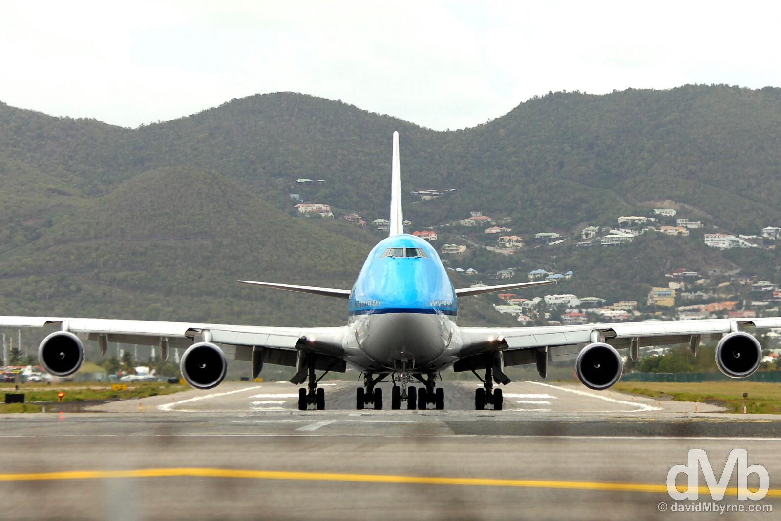 Taxiing for take-off at Juliana Airport, Sint Maarten, Lesser Antilles. June 9, 2015.