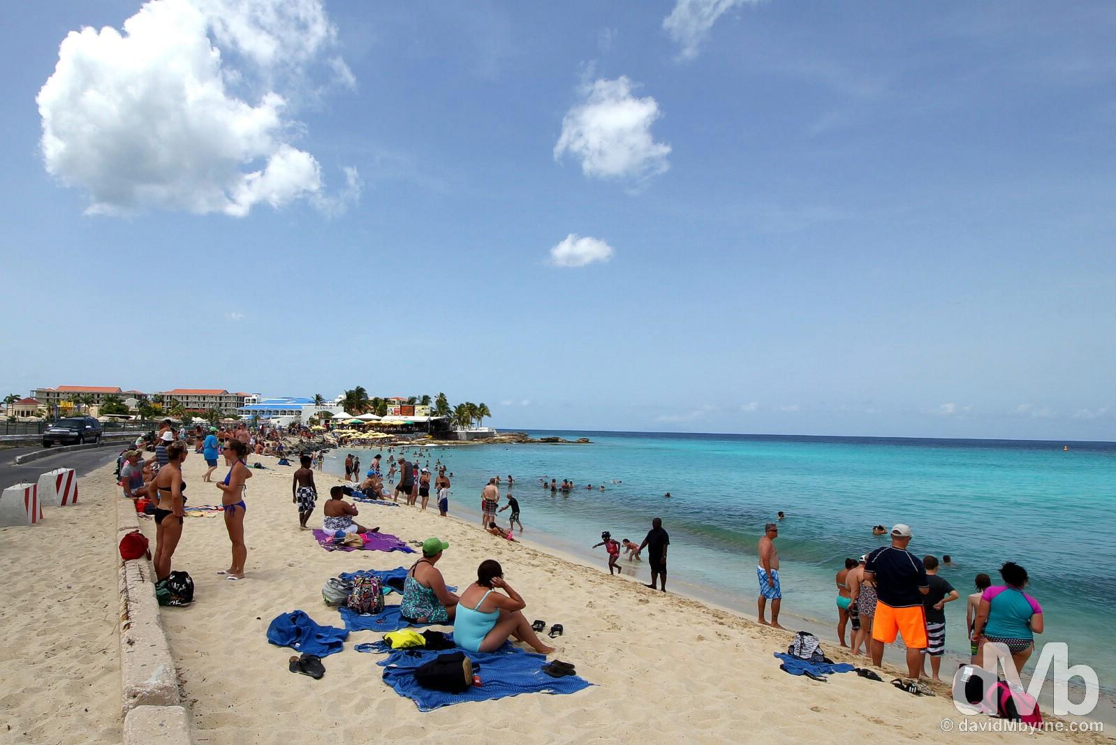 Maho Beach, Sint Maarten, Lesser Antilles. June 9, 2015.