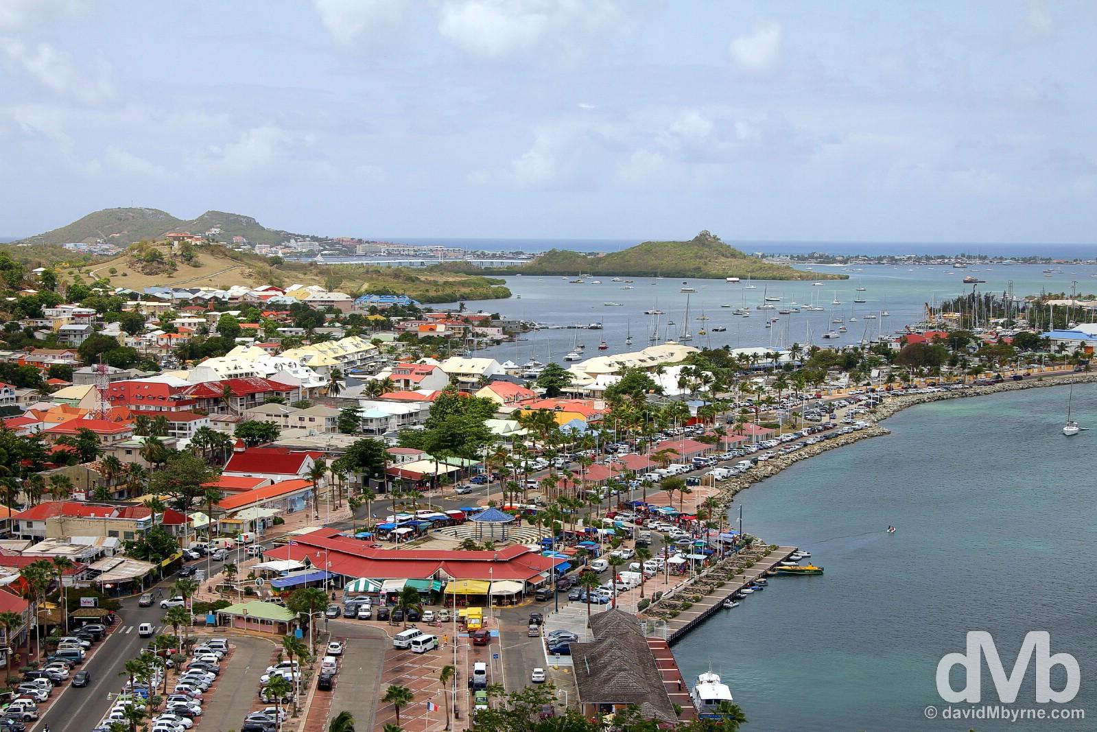 Marigot as seen from Fort Louis. Saint Martin, Lesser Antilles. June 8, 2015.