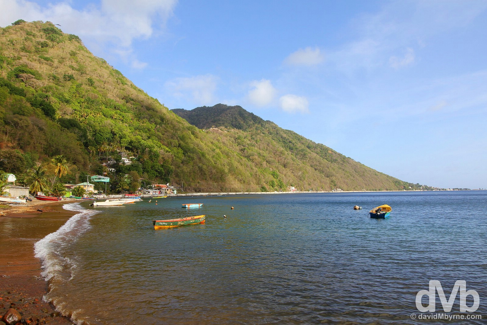 Soufriere Bay, southern Dominica, Lesser Antilles. June 11, 2015.