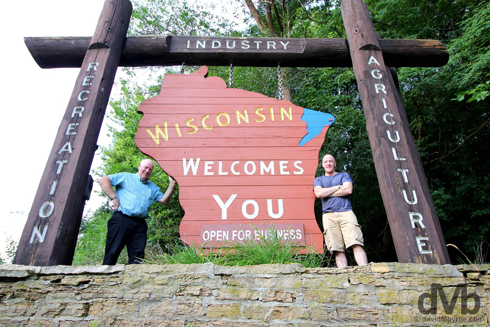 Wisconsin welcomes you. Prescot, Wisconsin, USA. August 29, 2016.