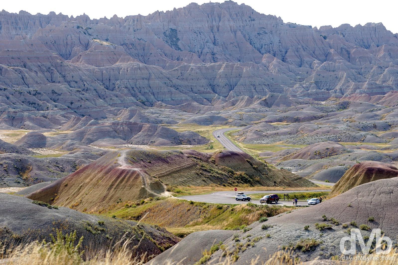 Badlands National Park, South Dakota, USA. September 1, 2016.