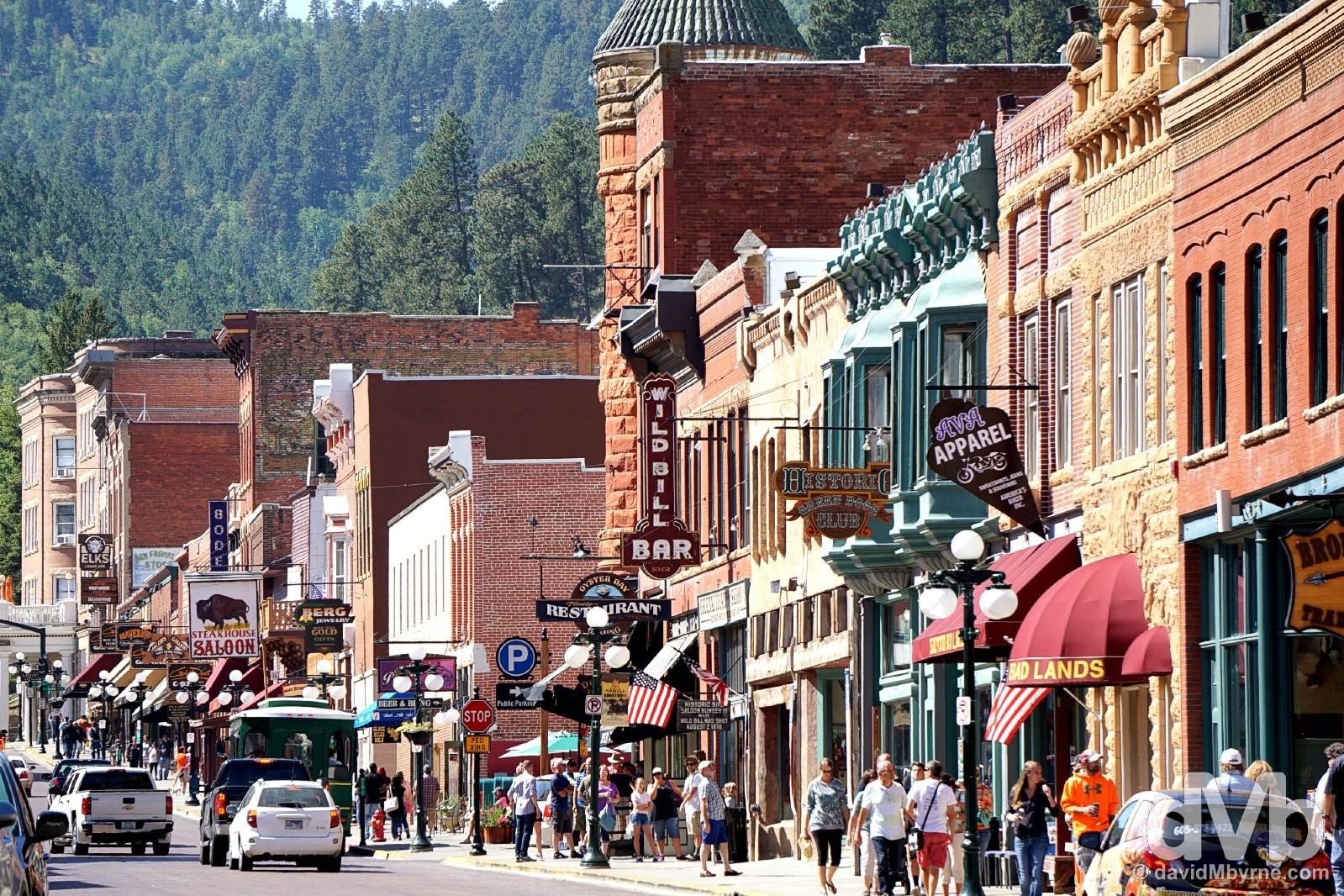 Historic Main Street Deadwood, Black Hills, South Dakota. September 3, 2016.