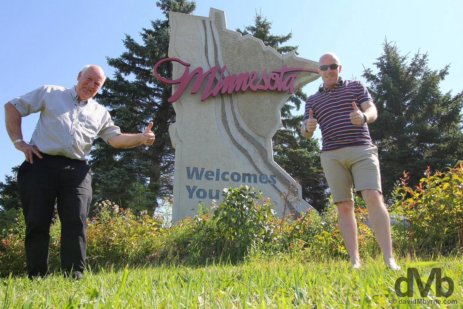 Minnesota Welcomes You. Grand Forks, South Dakota. August 31, 2016.