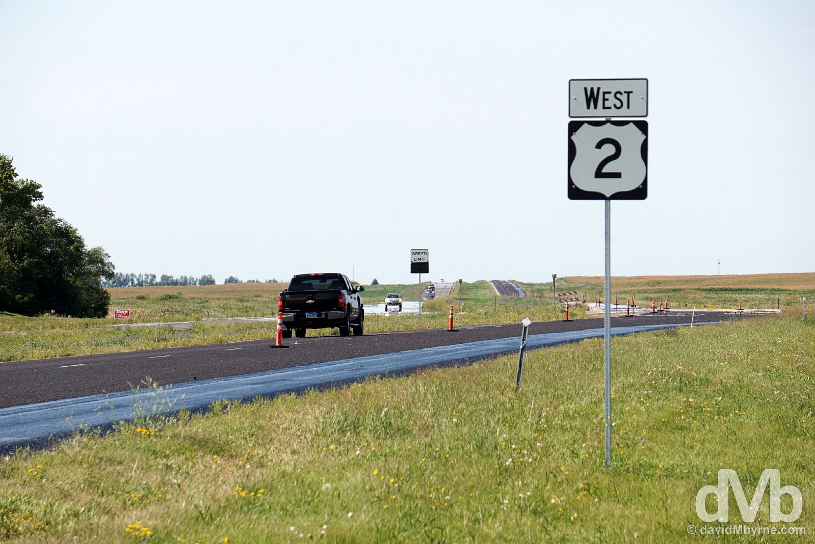 US-2, Lakota, North Dakota. August 31, 2016.