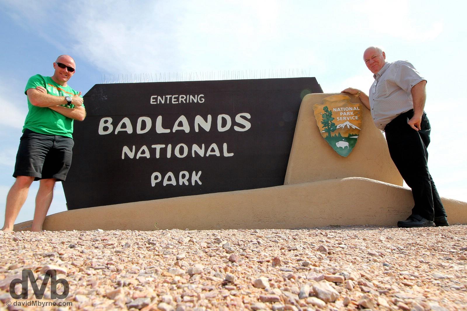 Badlands National Park, South Dakota. September 1, 2016.
