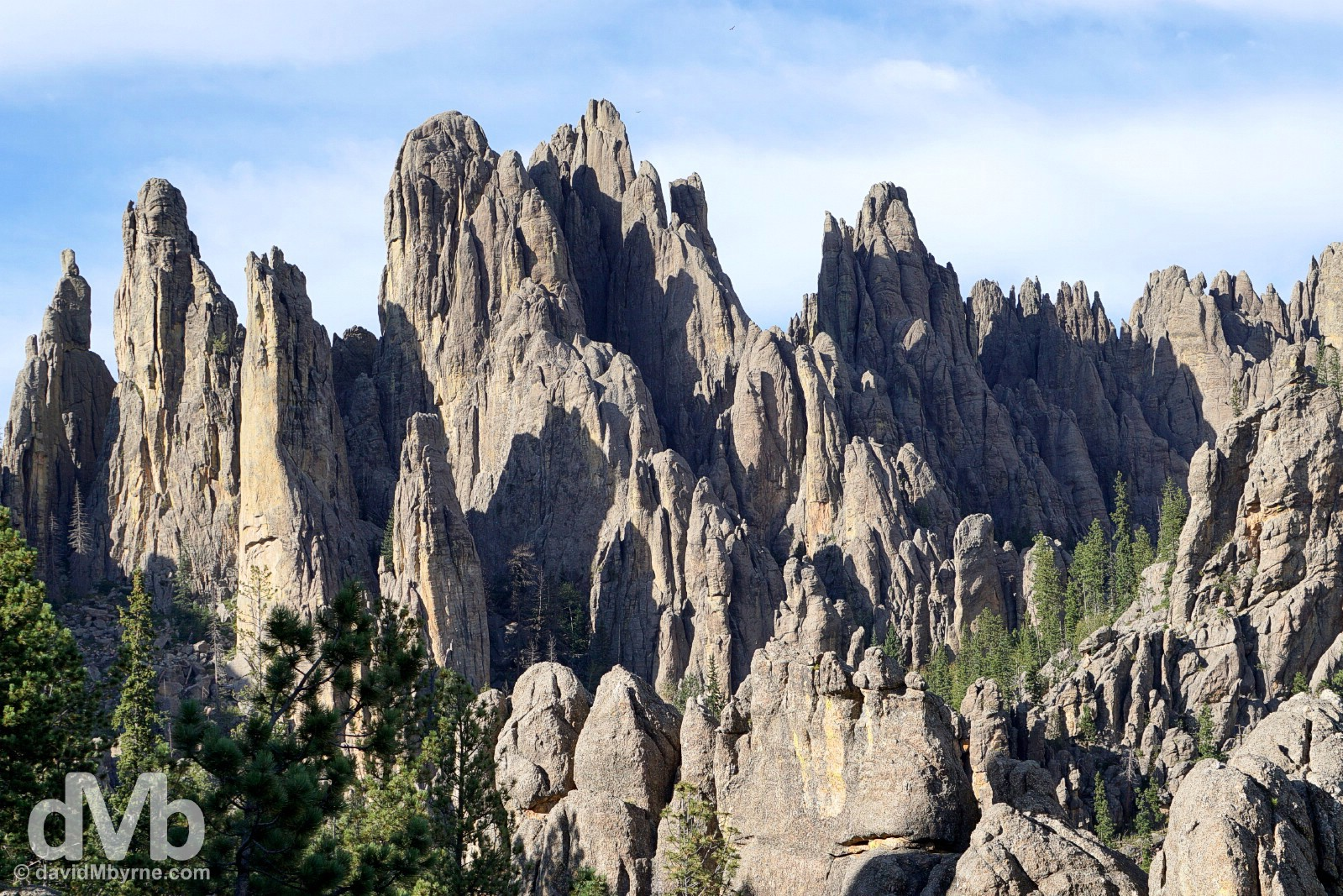 The Cathedral Spires of Custer State Park, Black Hills, South Dakota. September 2, 2016.