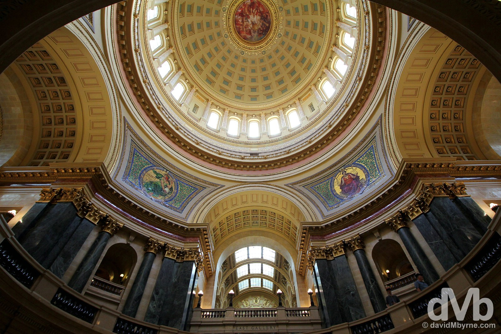 Cupola of the State Capitol Building in Madison, Wisconsin, USA. August 29, 2016.