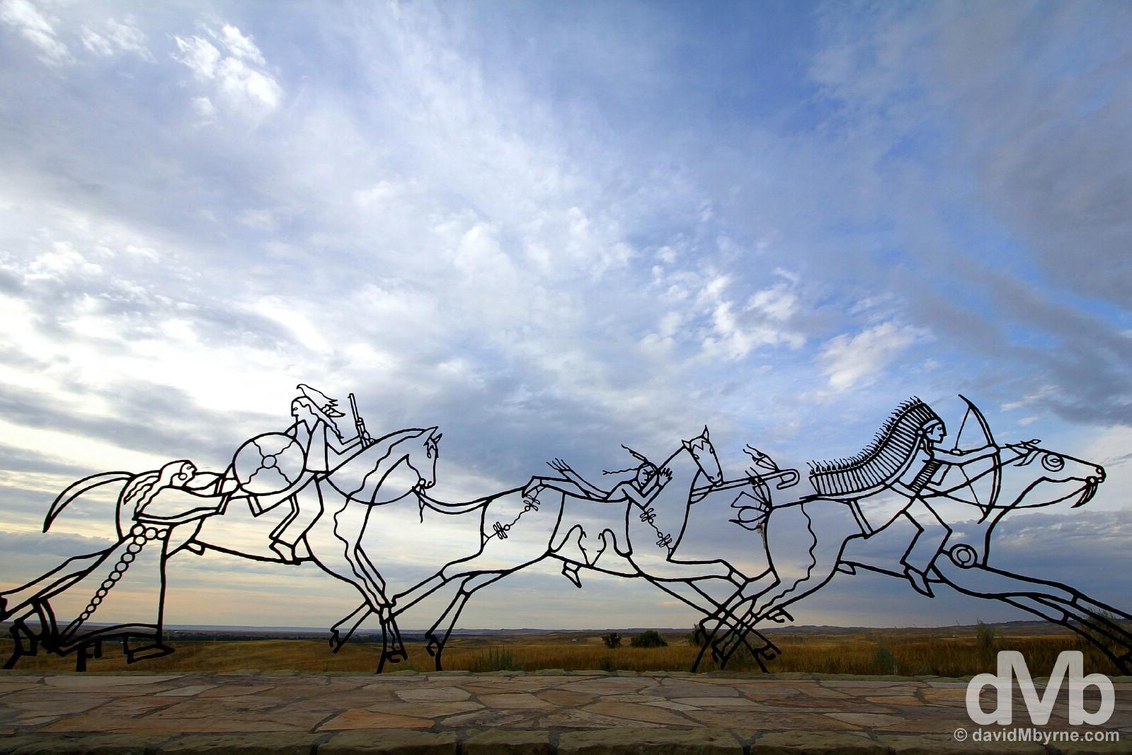 Indian Memorial, Little Bighorn Battlefield National Monument, Montana, USA. September 3, 2016.