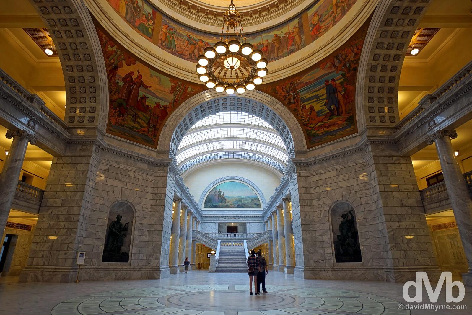 The dome of the Utah State Capitol Building in Salt Lake City, Utah. September 6, 2016.