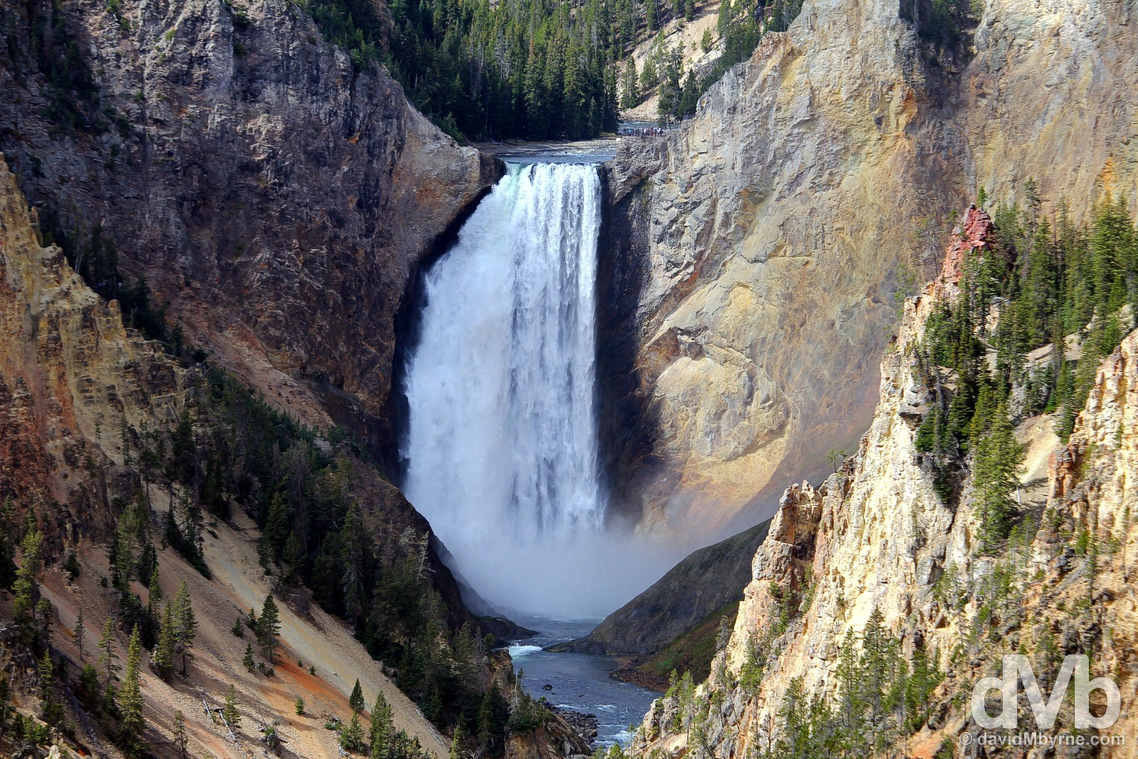 Lower Falls of the Grand Canyon of the Yellowstone River, Yellowstone National Park, Wyoming, USA. September 5, 2016.