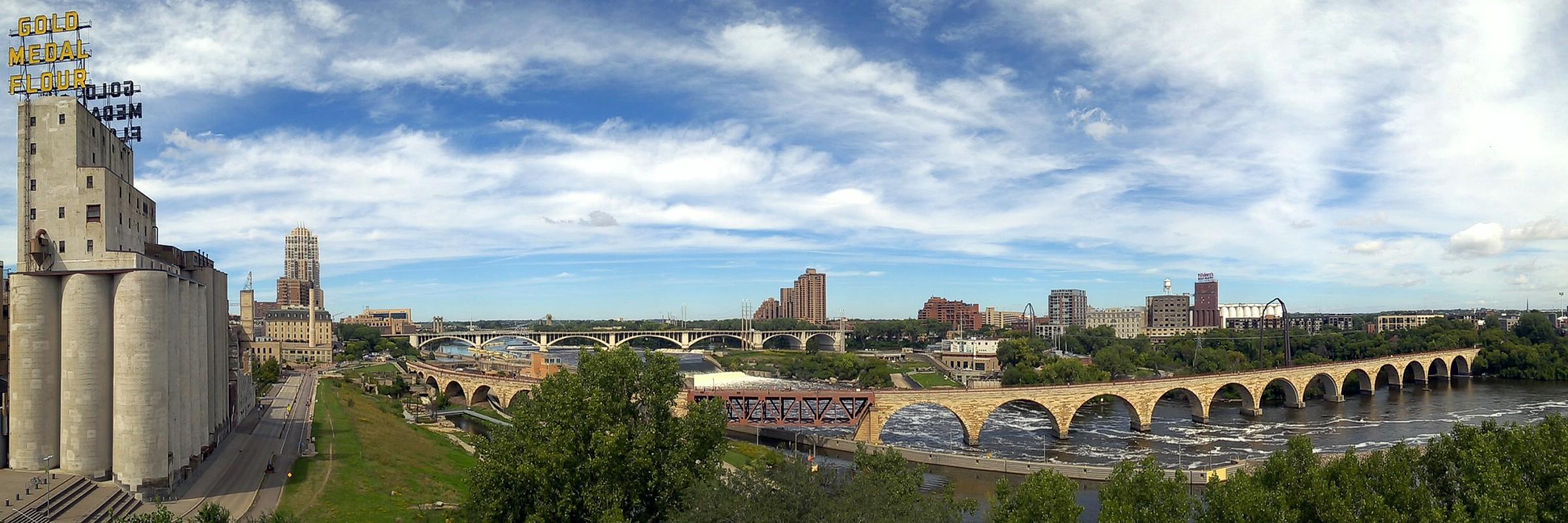 Riverfront District, Minneapolis, Minnesota, USA. August 30, 2016.