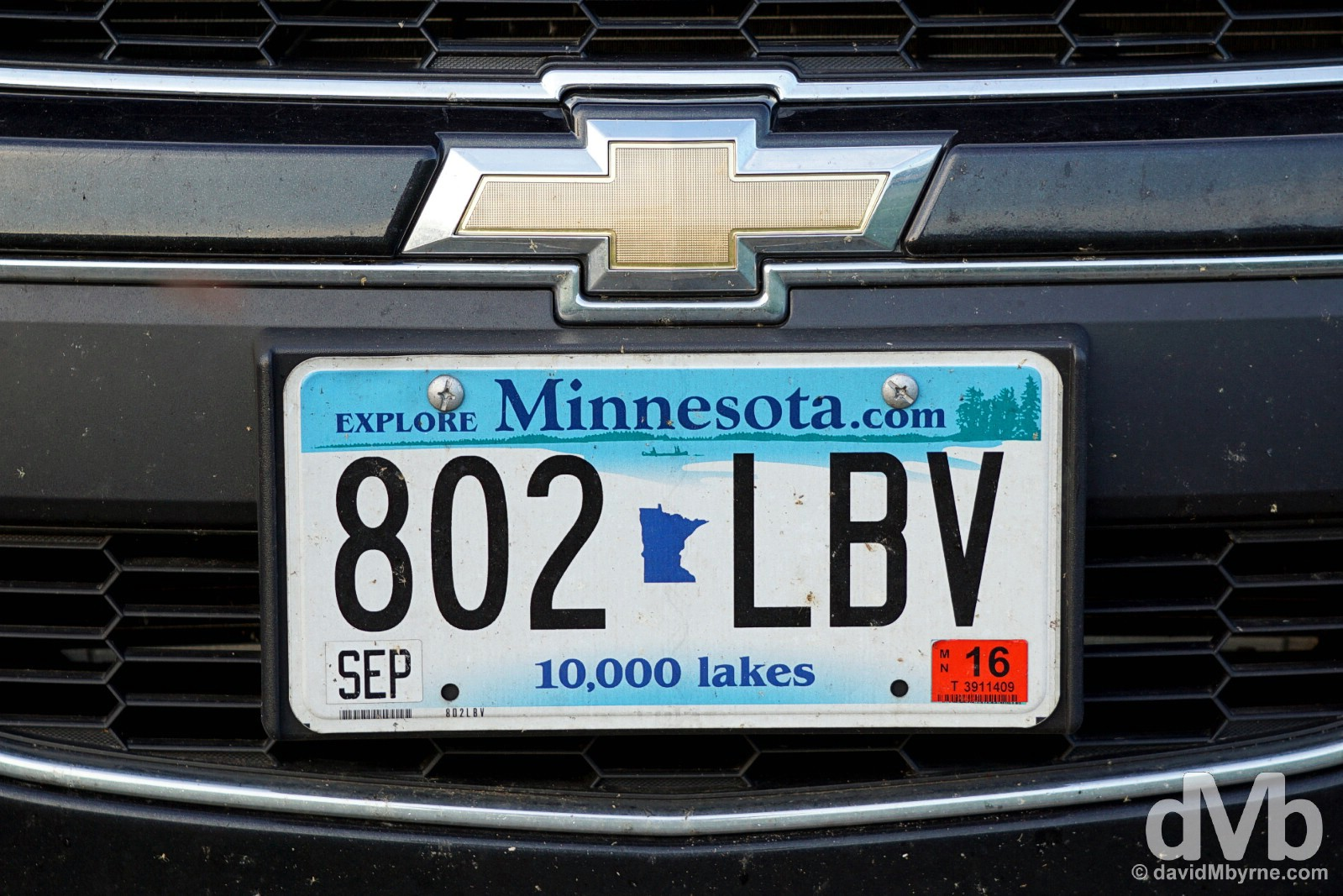 Plate, Hastings, Minnesota, USA. August 29, 2016.