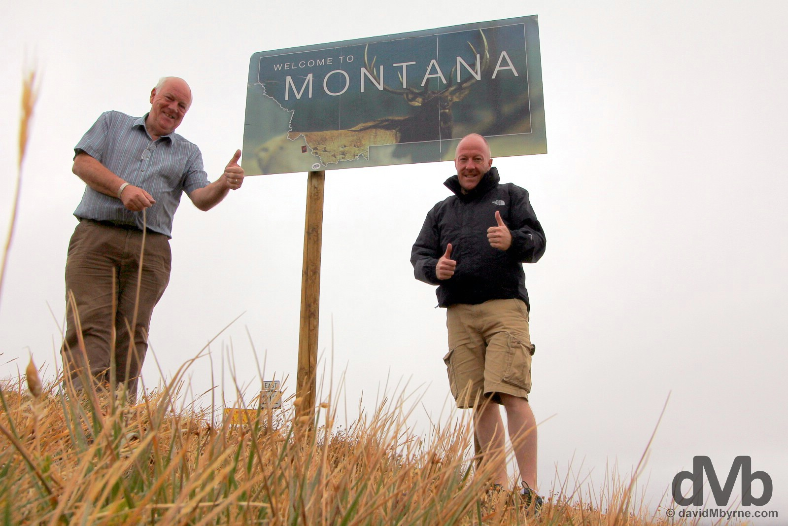 At the Montana/Wyoming state line on U.S. Route 212, the All-American Beartooth Highway, USA. September 4, 2016.