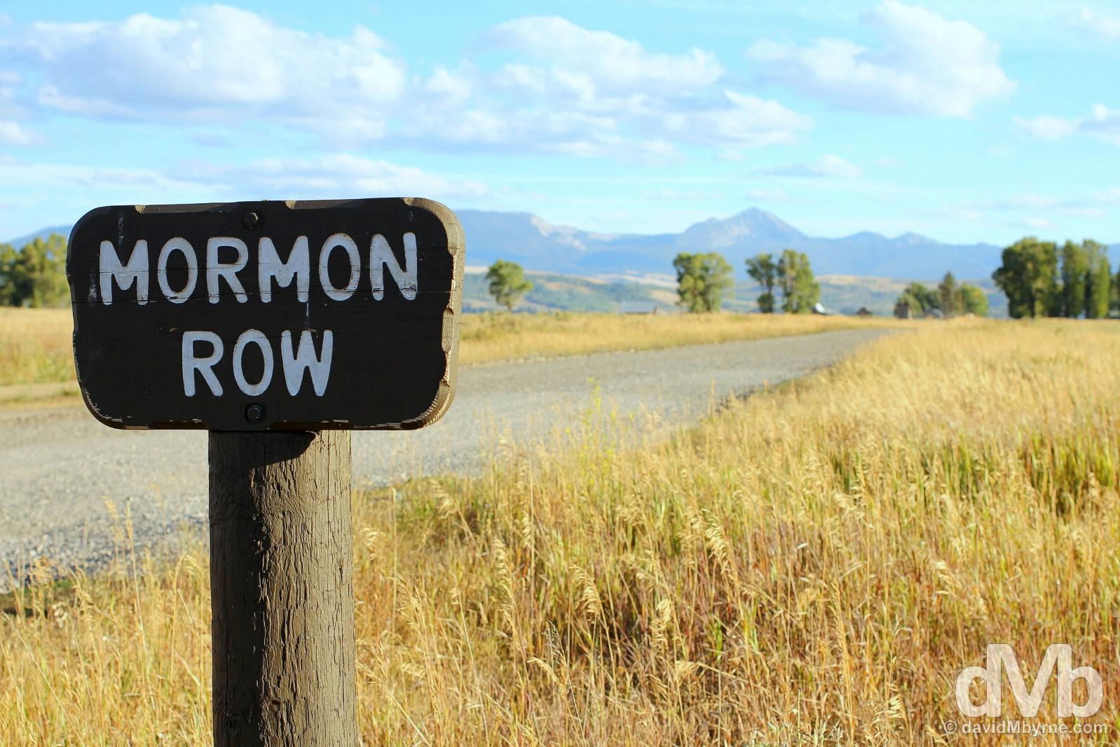 Mormon Row, Grand Teton National Park, Wyoming, USA. September 5, 2016.