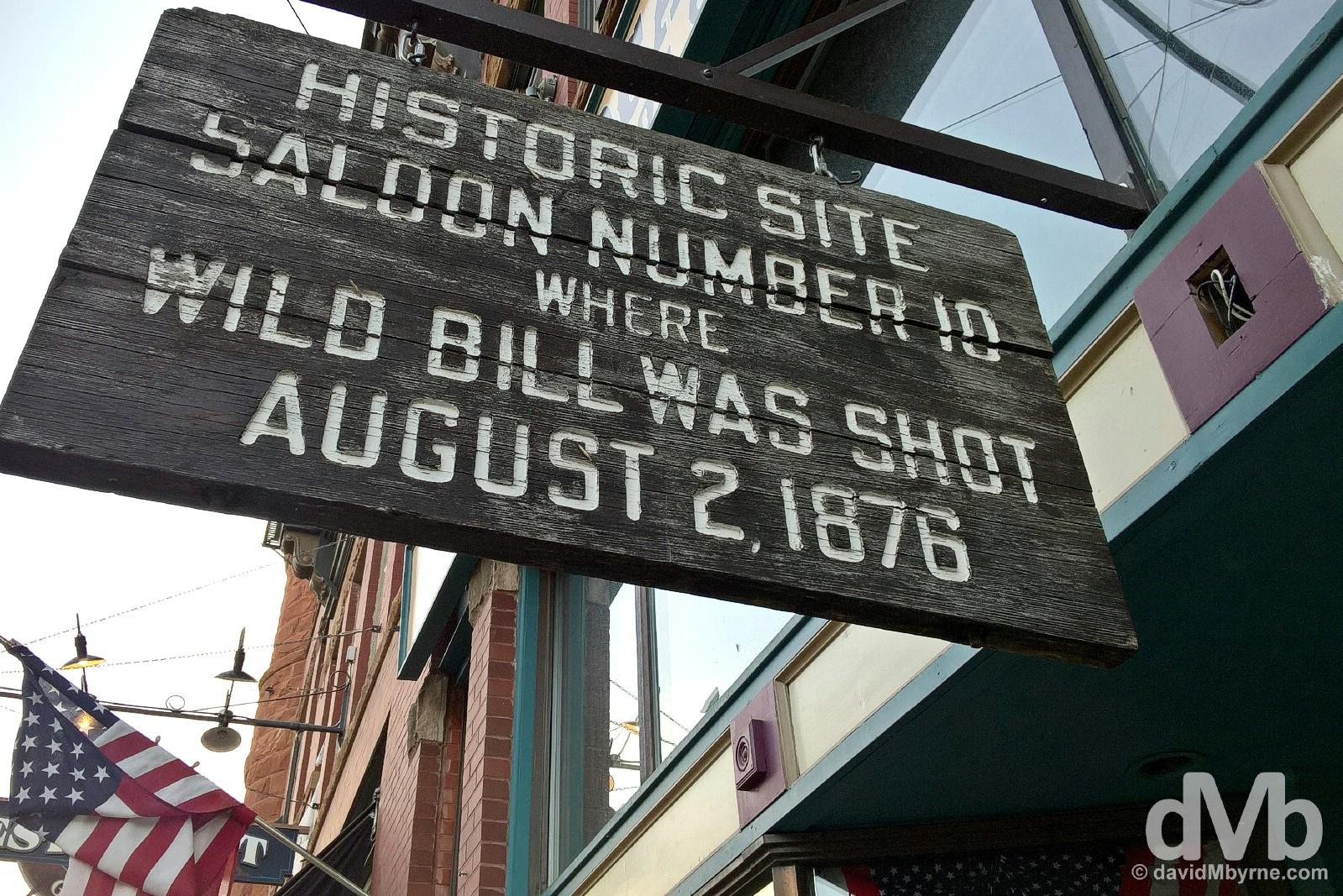 Saloon Number 10, Historic Main Street Deadwood, Black Hills, South Dakota, USA. September 1, 2016.