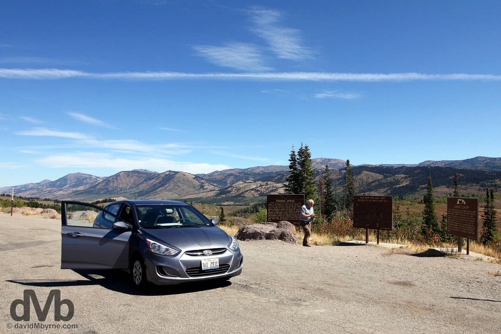 Atop the Salt River Pass of the Salt River Range, western Wyoming, USA. September 6, 2016.