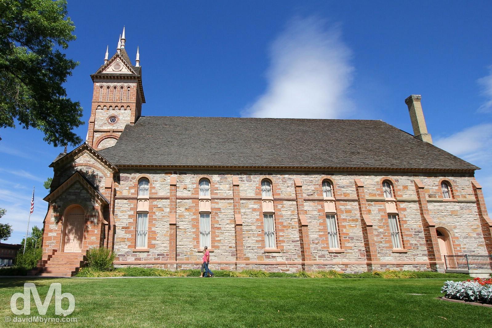 The Romanesque 1880s Tabernacle in Paris, Idaho, USA. September 6, 2016.
