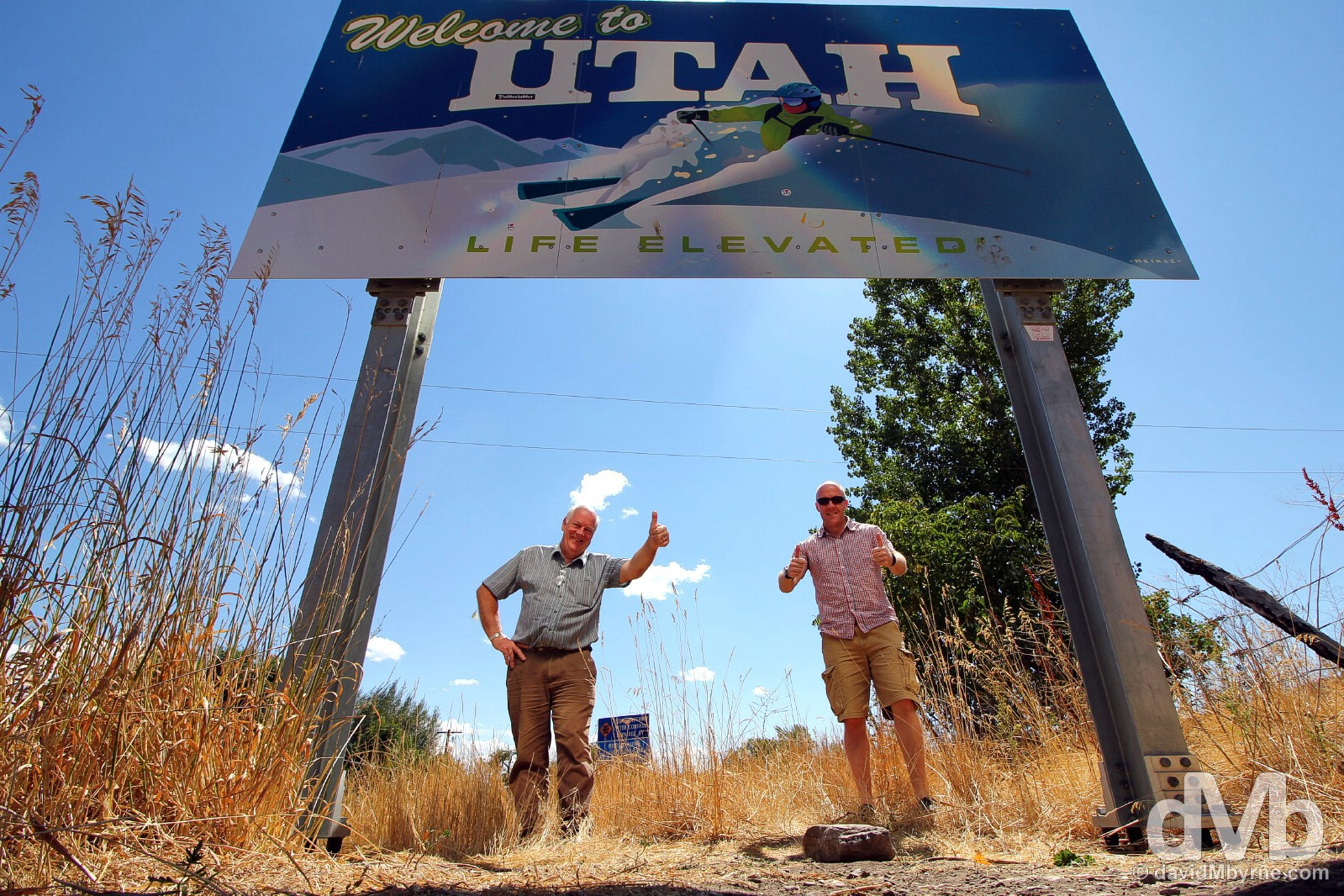 At the Idaho - Utah state line on U.S. Highway 89. September 6, 2016.