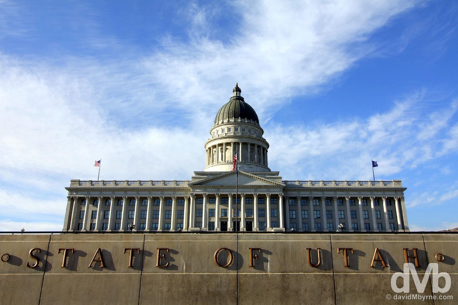 Fronting the Utah State Capitol Building in Salt Lake City, Utah. September 6, 2016.