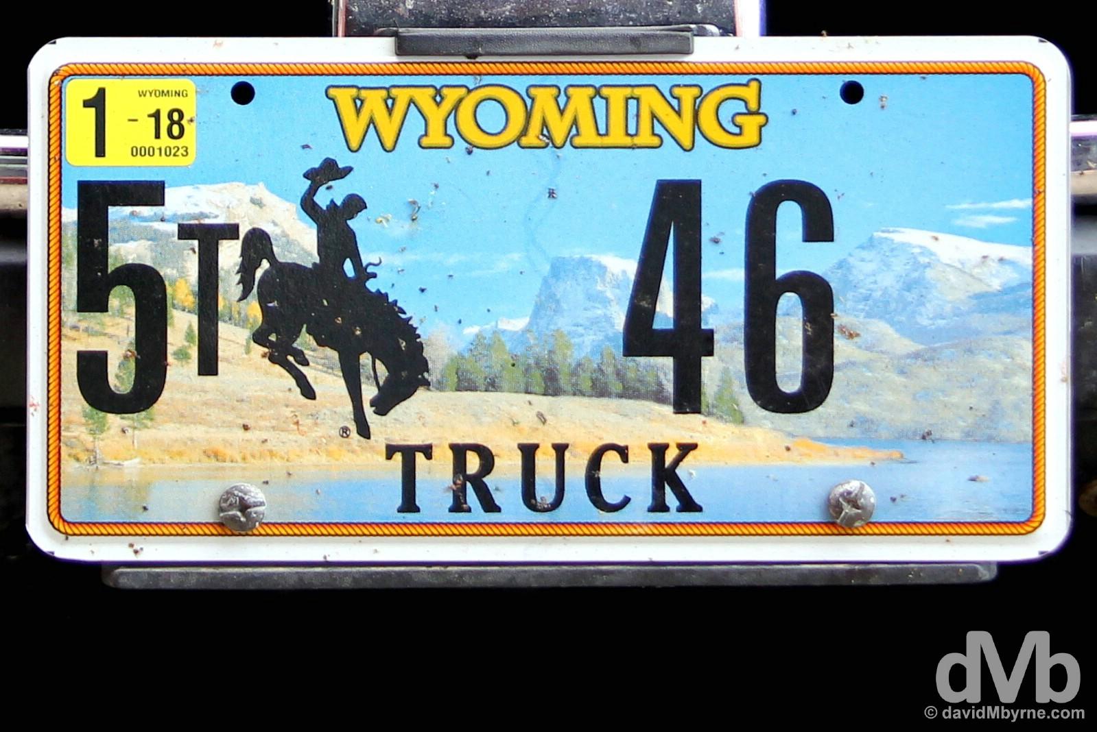 Plate. Laramie, Wyoming, USA. September 14, 2016.