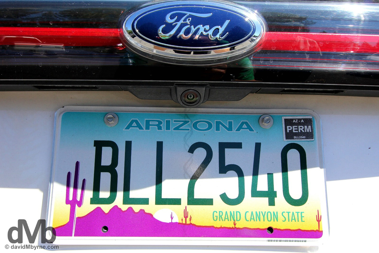 Arizona registration plate. Page, Arizona, USA. September 9, 2016.