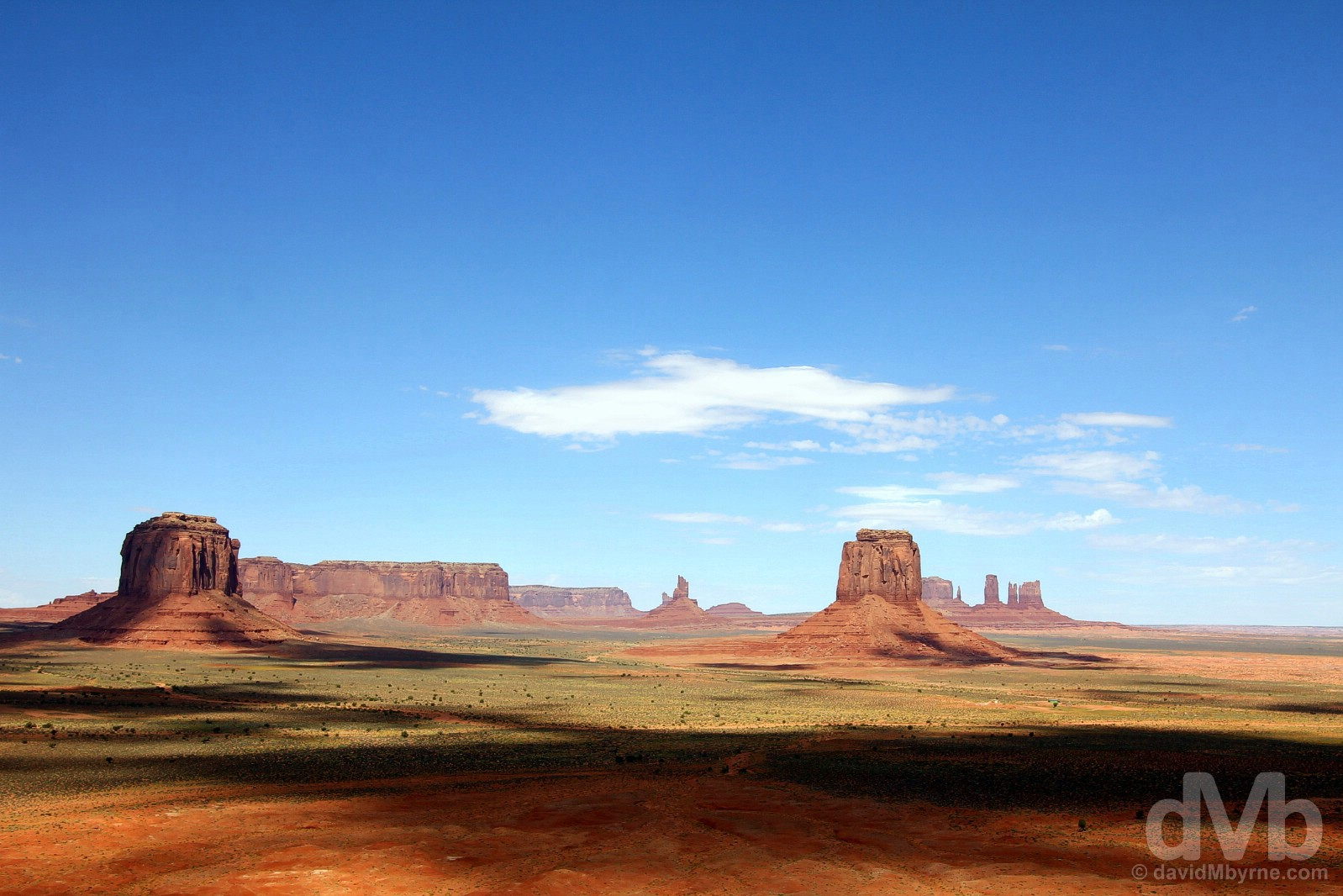 The view from the Artist Point Overlook on the Valley Drive in Monument Valley, Navajo Nation, Arizona. September 11, 2016.