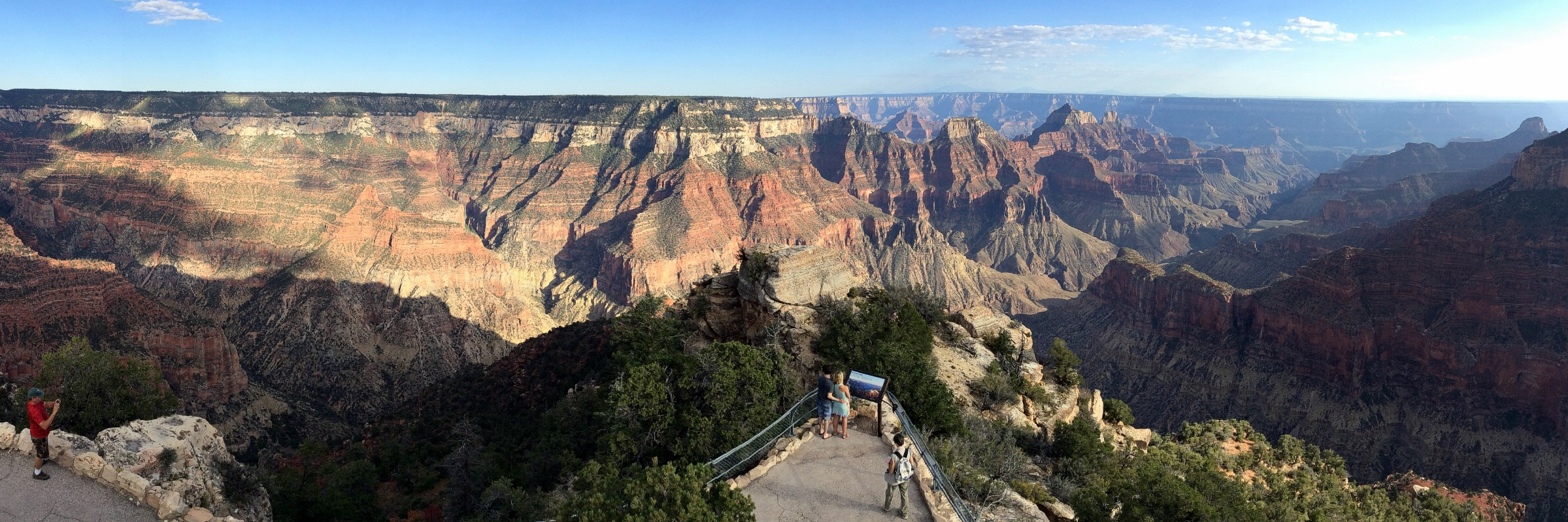 Bright Angel Point, Grand Canyon National Park North Rim, Arizona, USA. September 9, 2016.