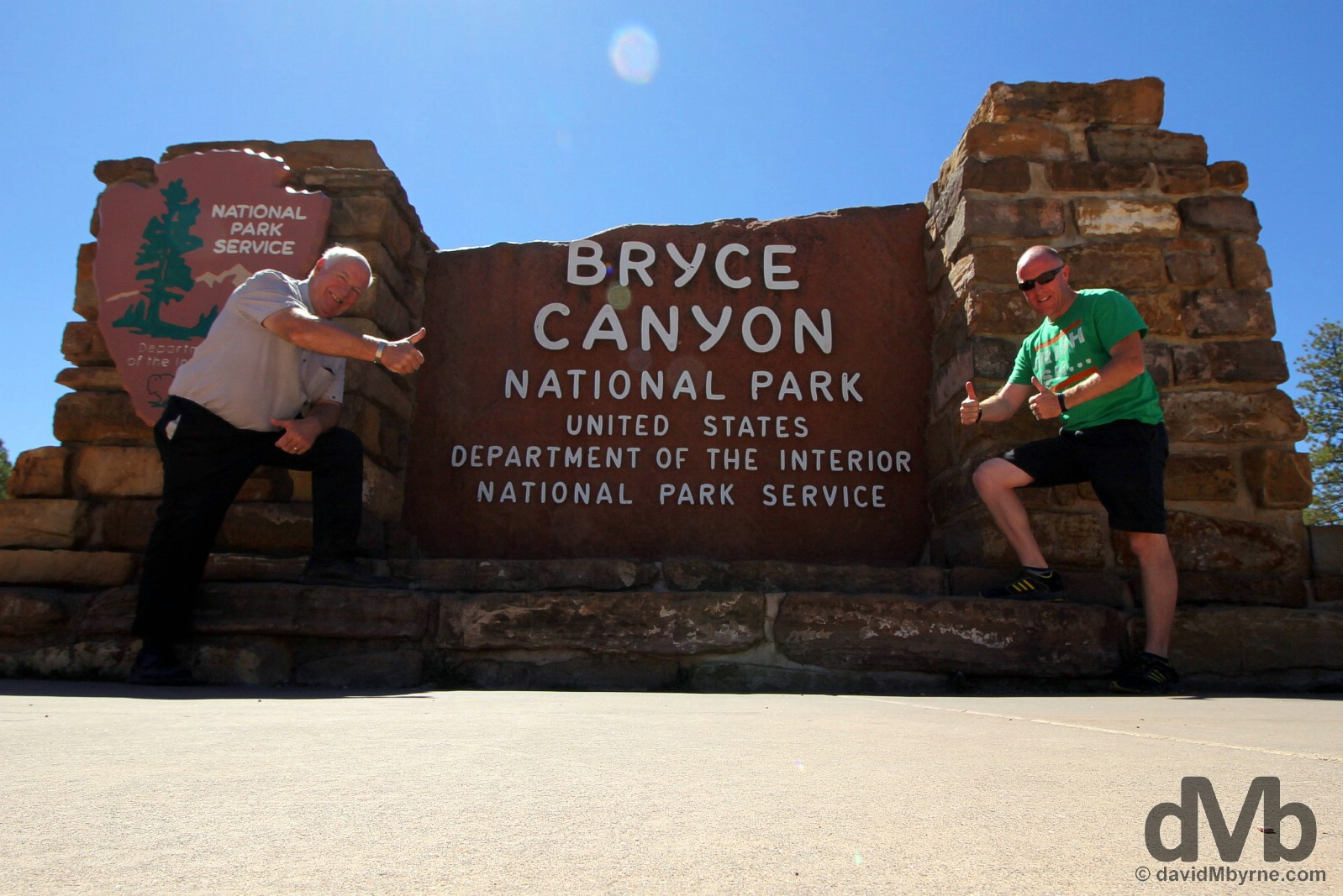 At the entrance to Bryce Canyon National Park, southern Utah, USA. September 8, 2016.