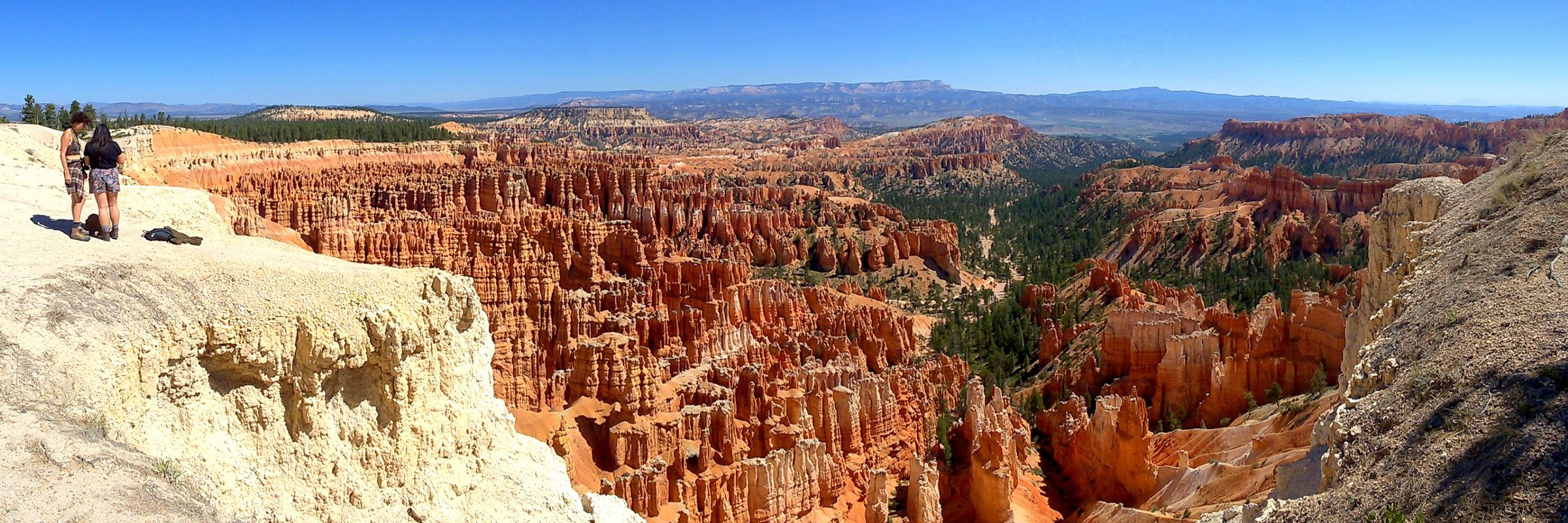 Overlooking the Bryce Amphitheater in Bryce Canyon National Park, southern Utah, USA. September 8, 2016.