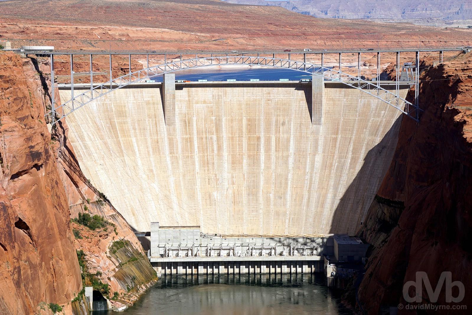 The Glen Canyon Dam, Page, Arizona, USA. September 10, 2016.
