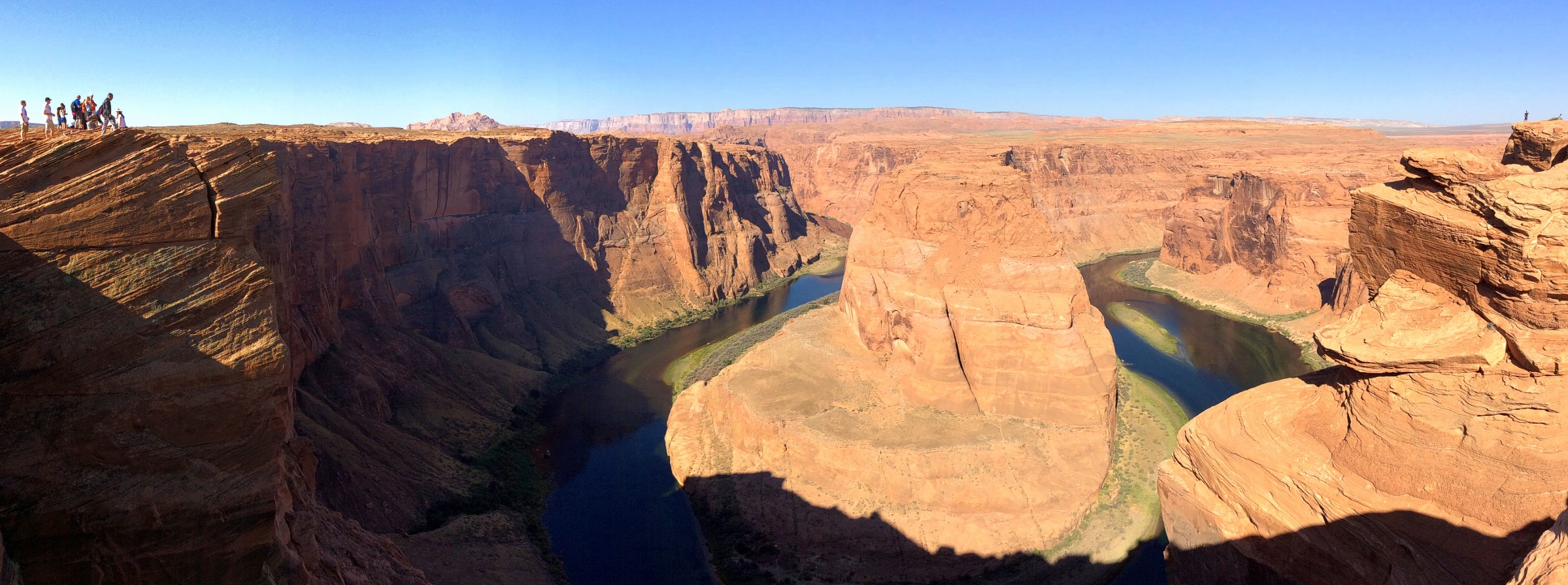 Overlooking Horseshoe Bend of the Colorado River outside Page, Arizona, USA. September 9, 2016.