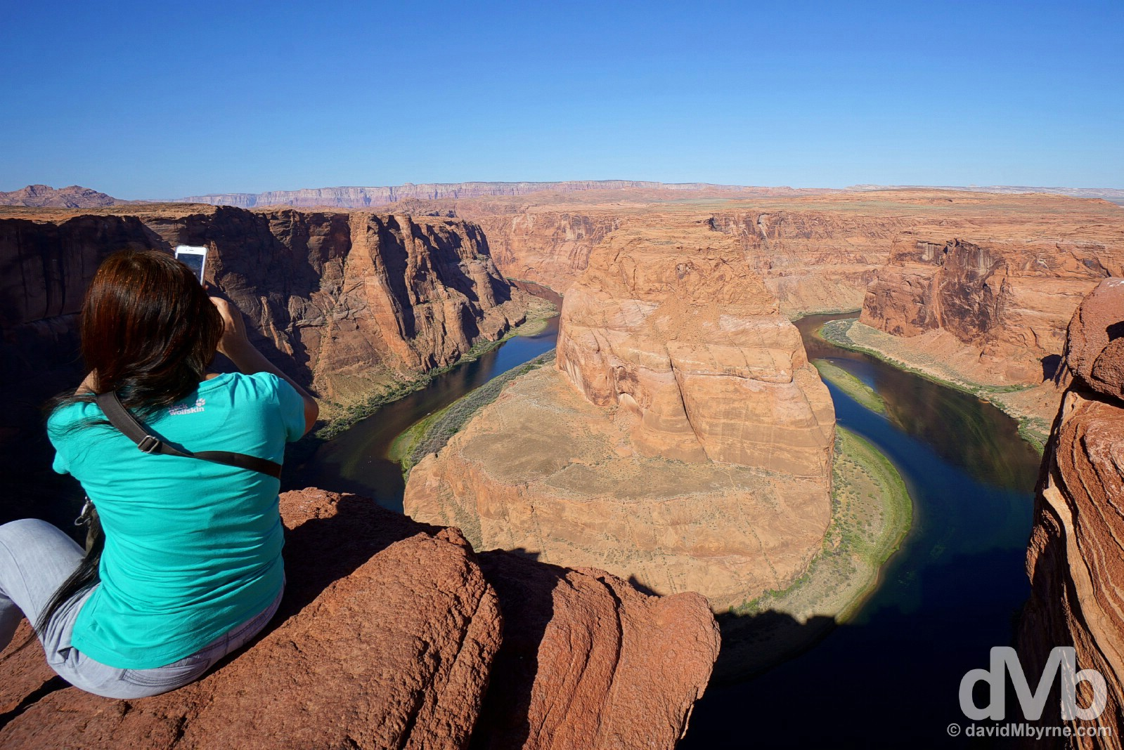 Overlooking the Horseshoe Bend of the Colorado River outside Page, Arizona, USA. September 9, 2016.