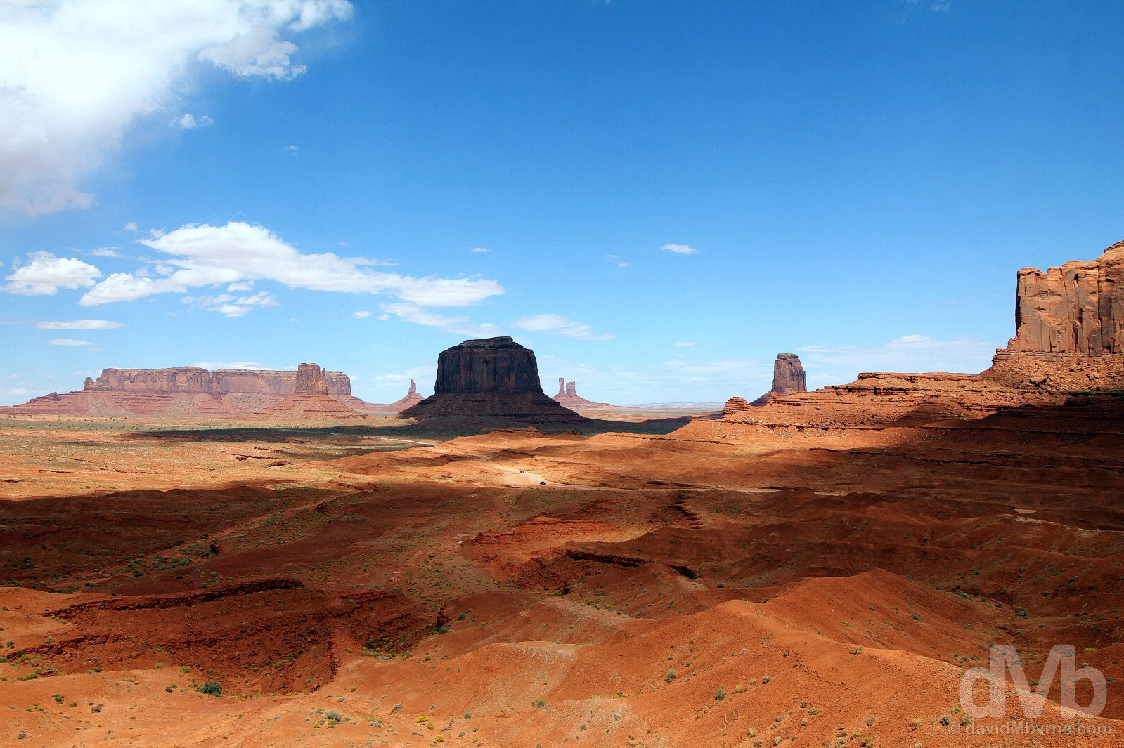 The view from John Ford's Point on Valley Drive in Monument Valley, Navajo Nation, Arizona. September 11, 2016.