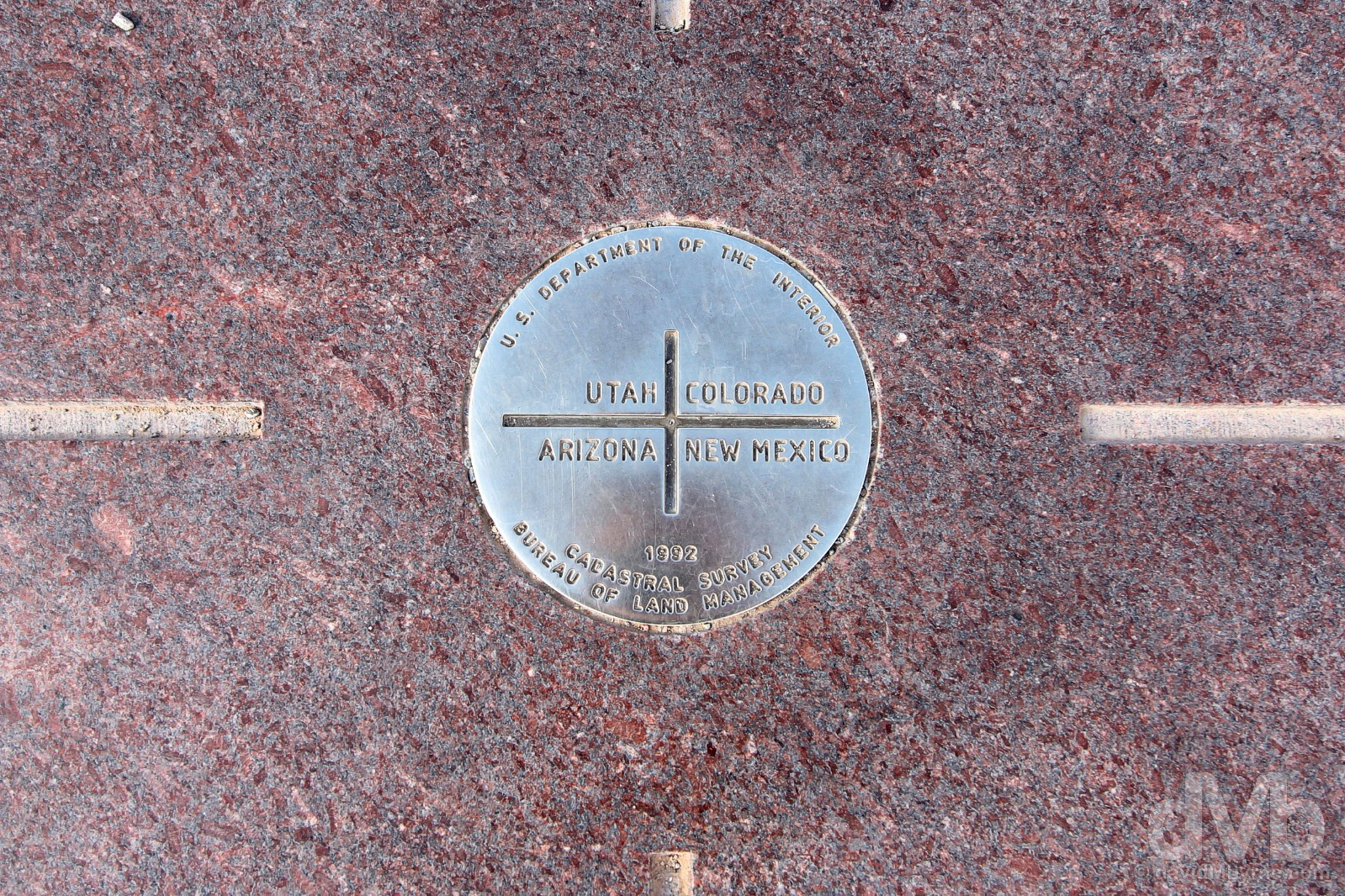 At the Four Corners Monument in Southwest USA. September 11, 2016.