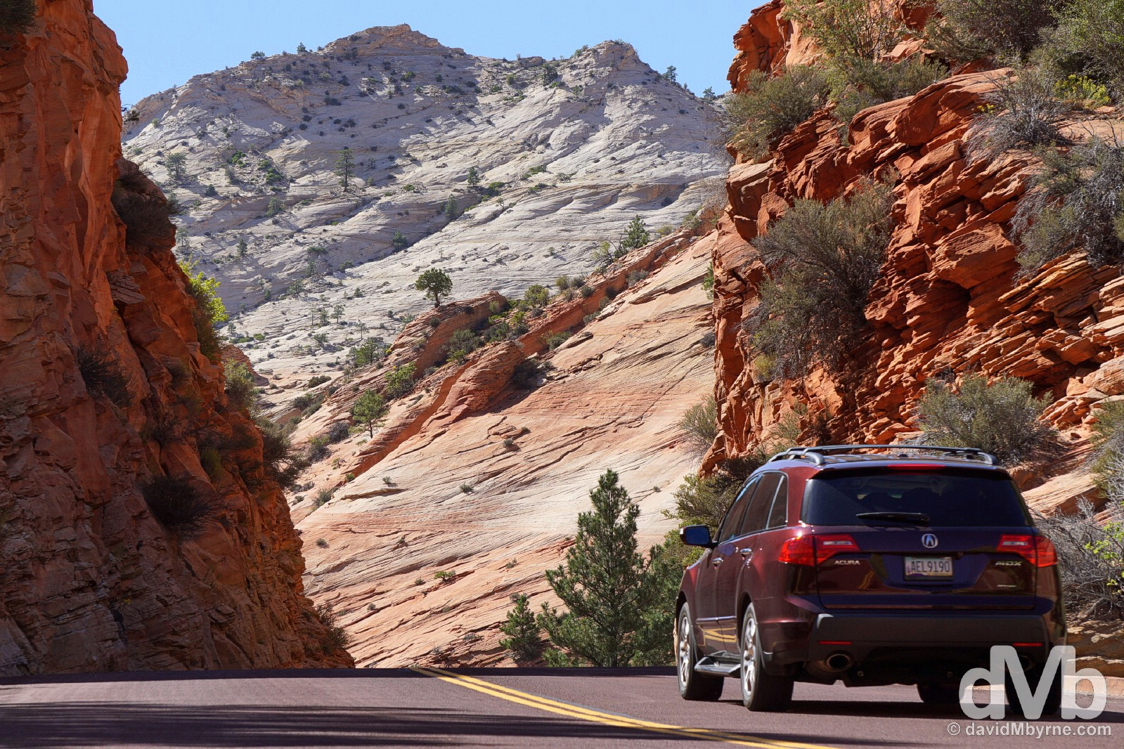 On the Mount Carmel Scenic Byway in Zion National Park, southern Utah, USA. September 8, 2016.