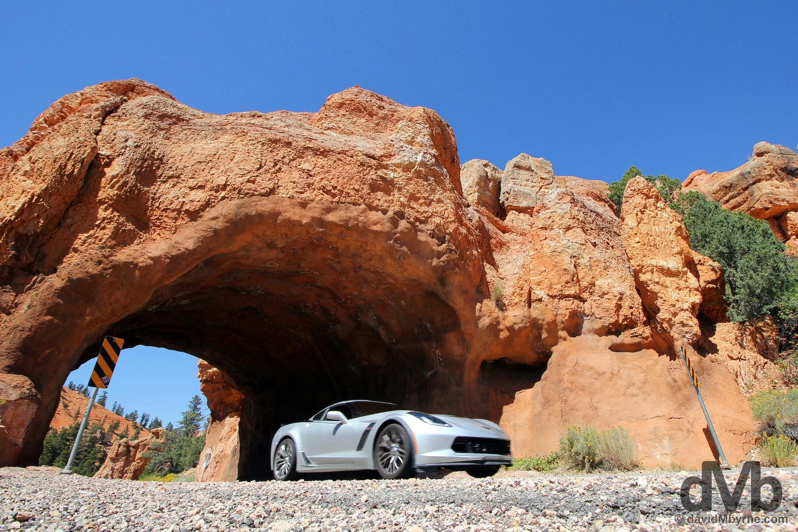 On the All-American Scenic Byway 12 in Red Canyon, southern Utah, USA. September 8, 2016.