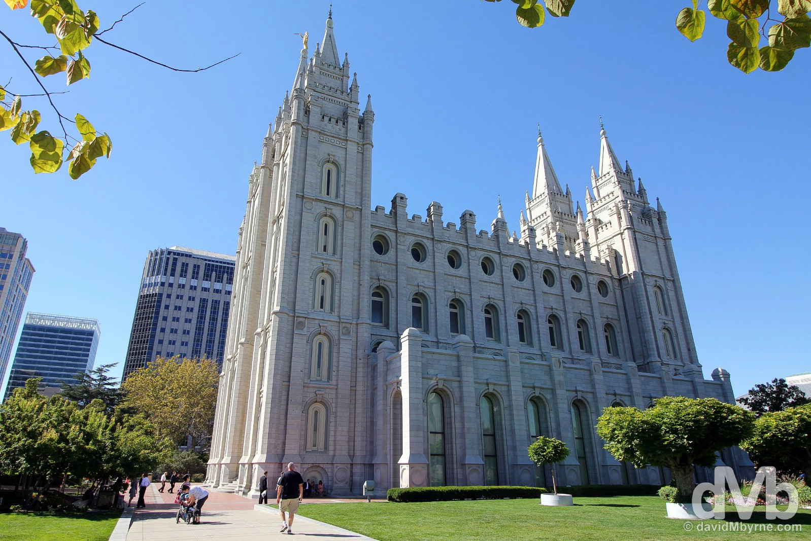 The Salt Lake Temple in Temple Square, Salt Lake City, Utah, USA. September 7, 2016.