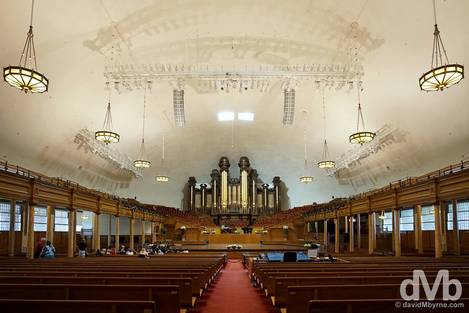 The interior of the Mormon Tabernacle in Temple Square, Salt Lake City, Utah, USA. September 7, 2016.