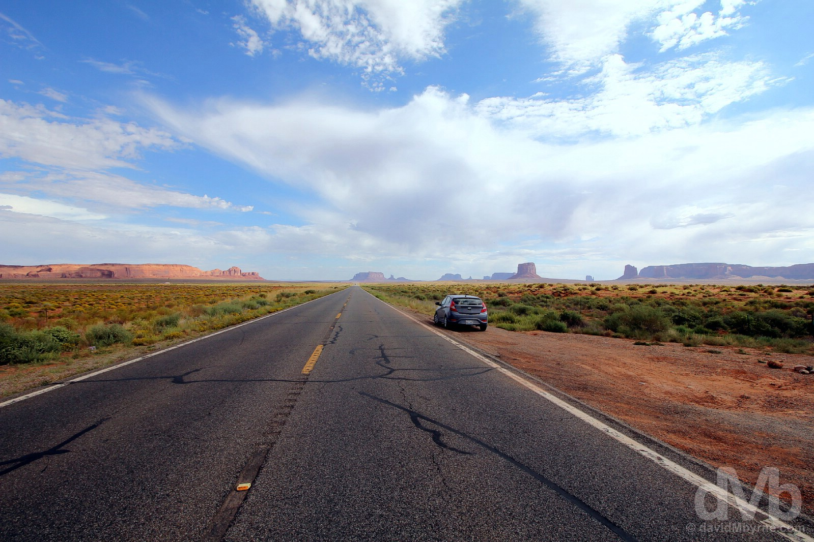On US Route 163 en route to Monument Valley, Navajo Nation, Arizona. September 11, 2016.
