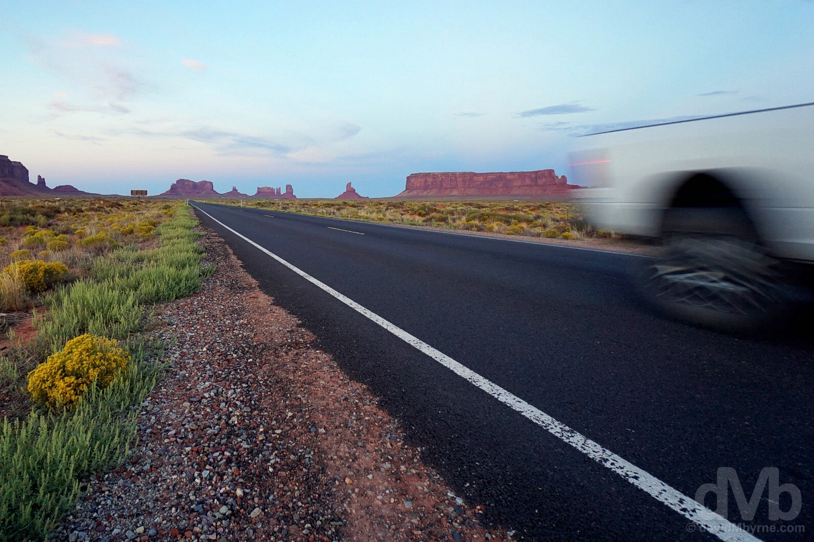 On US Route 163 in Monument Valley, Utah, USA. September 10, 2016.