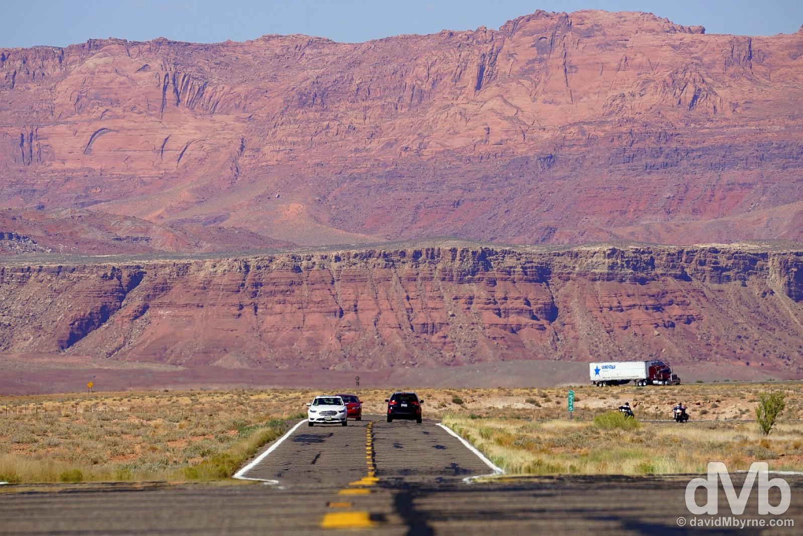 The Vermilion Cliffs as seen from ALT 89, Arizona, USA. September 9, 2016.