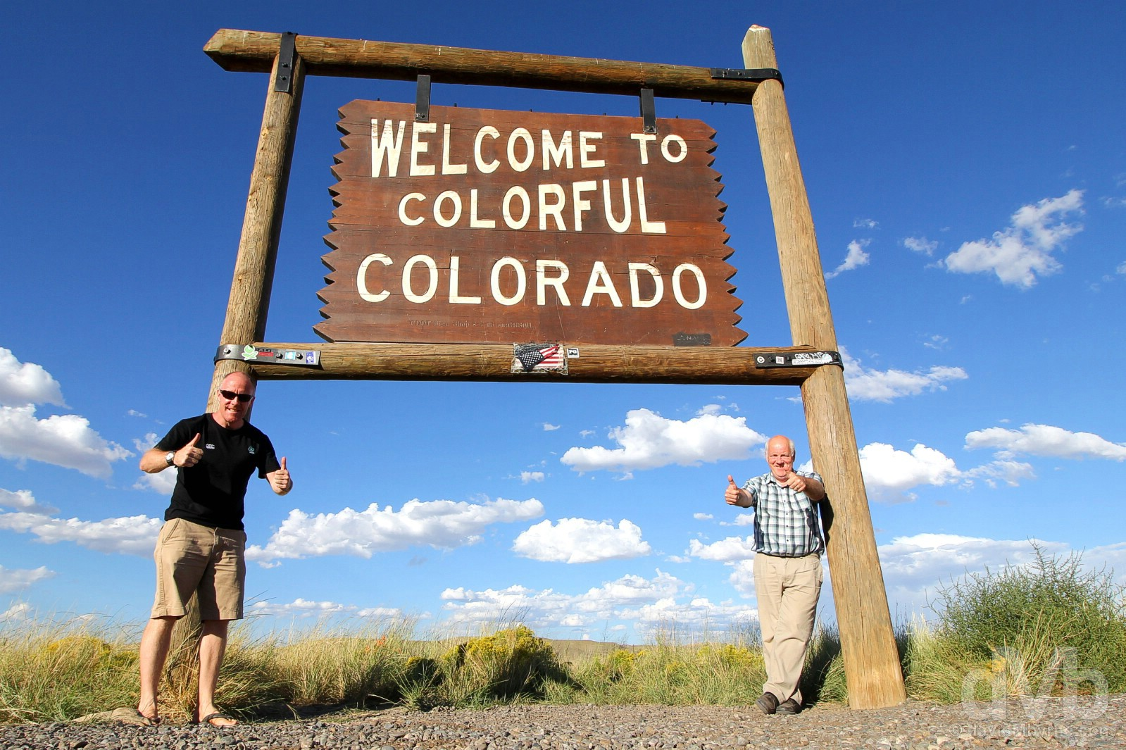 Welcome to Colorful Colorado. At the New Mexico/Colorado state line on US Route 160. September 11, 2016.