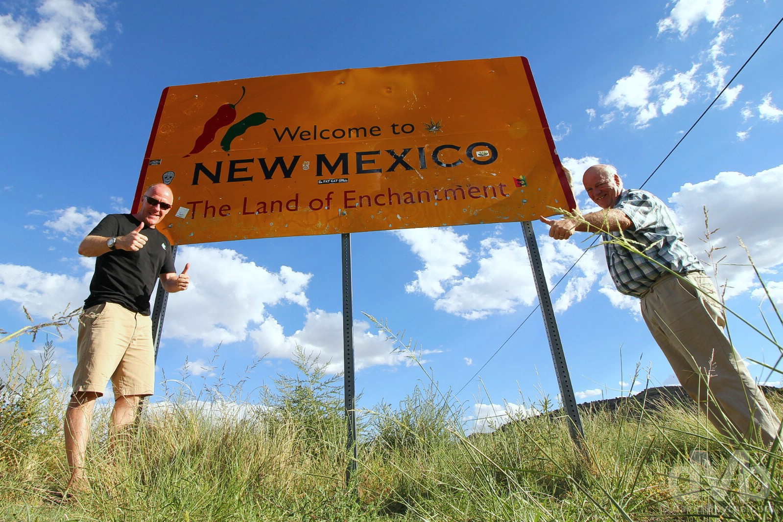 Welcome to New Mexico. At the Arizona/New Mexico state line on US Route 64. September 11, 2016.