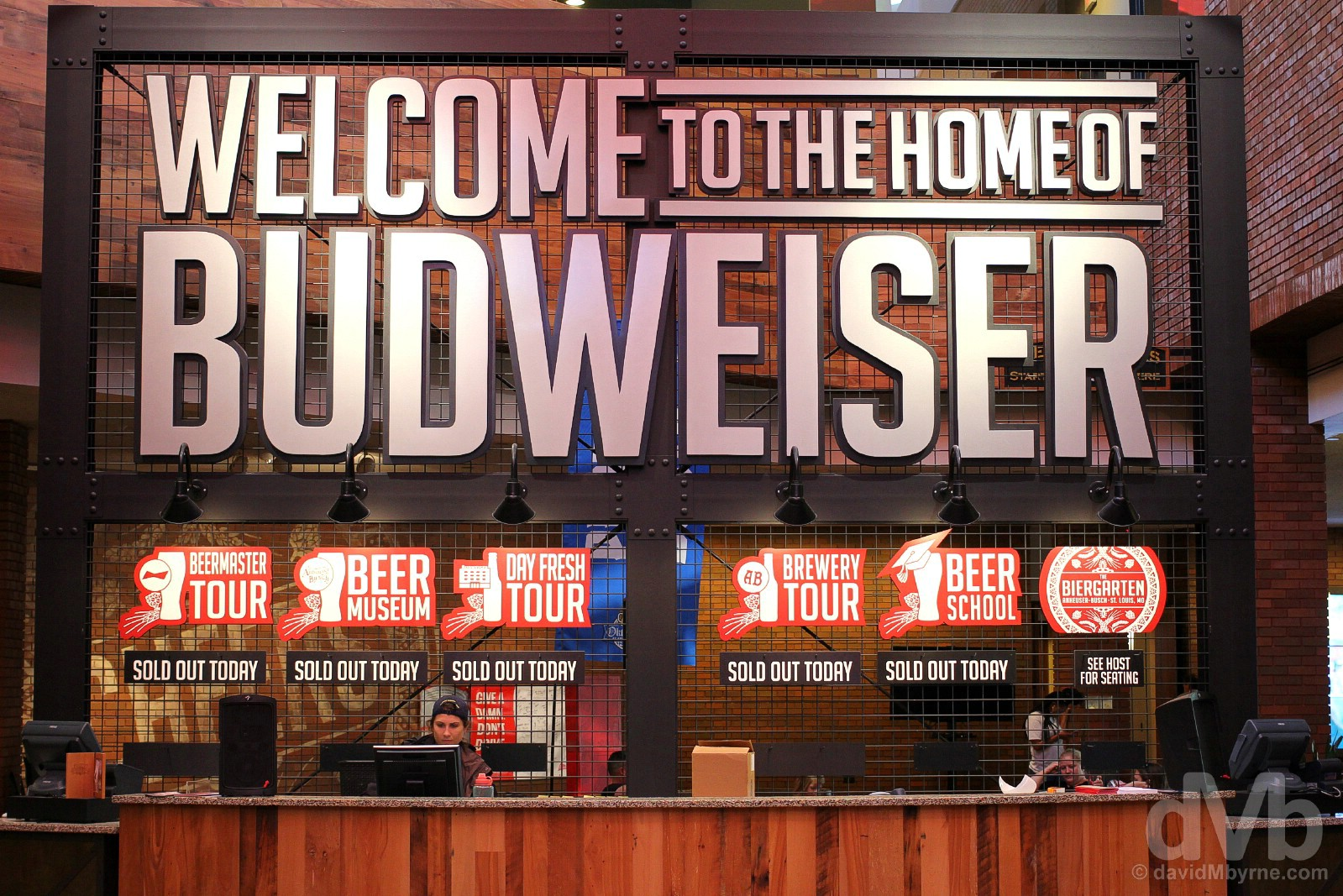 The Home of Bud. Anheuser-Busch, St. Louis, Missouri, USA. September 17, 2016.