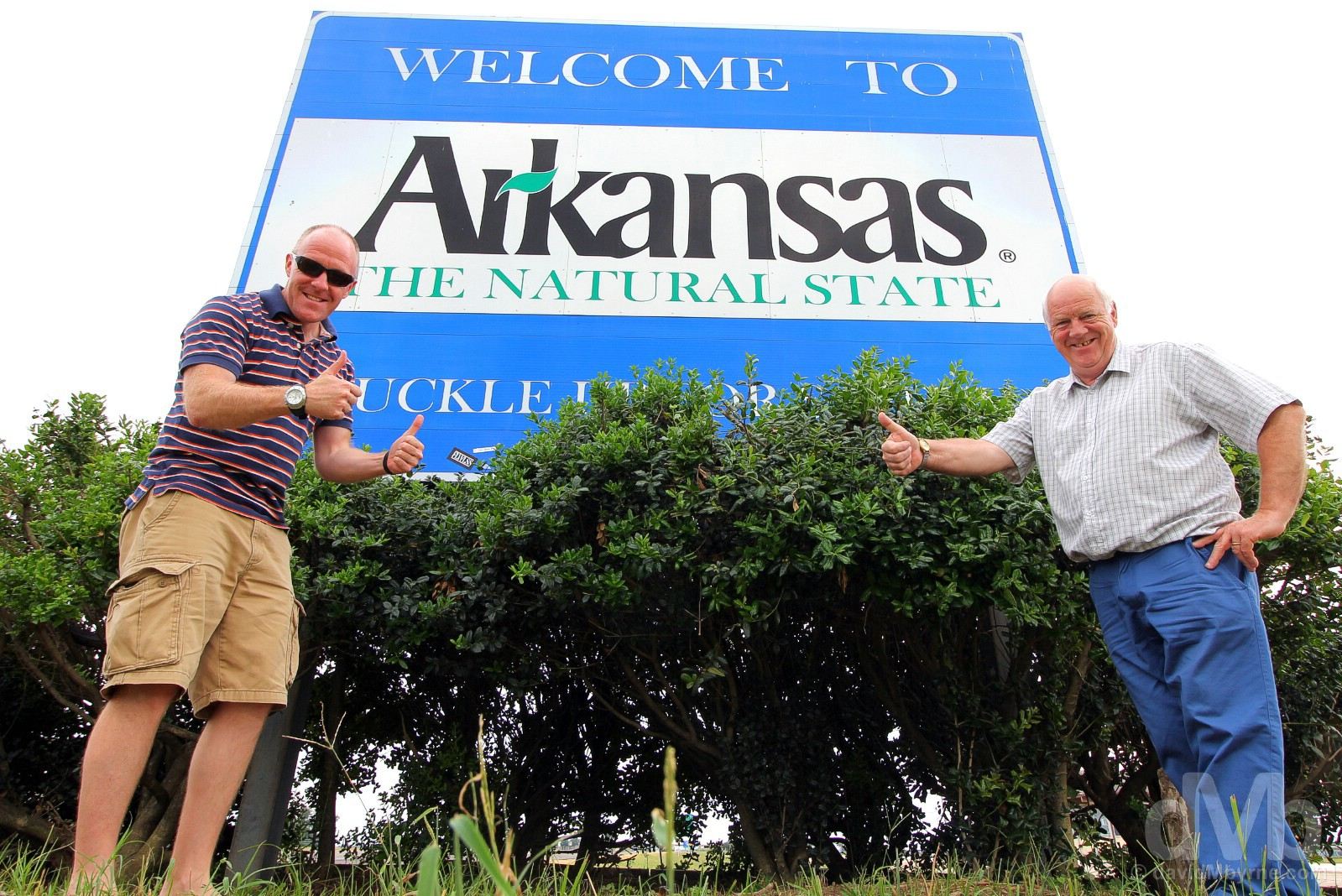 Welcome to Arkansas. At the Missouri-Arkansas state line, Interstate 55. September 18, 2016.