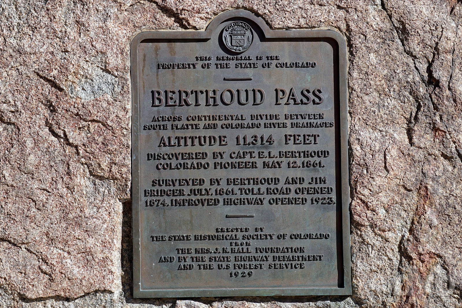 Berthoud Pass, north-central Colorado, USA. September 13, 2016.