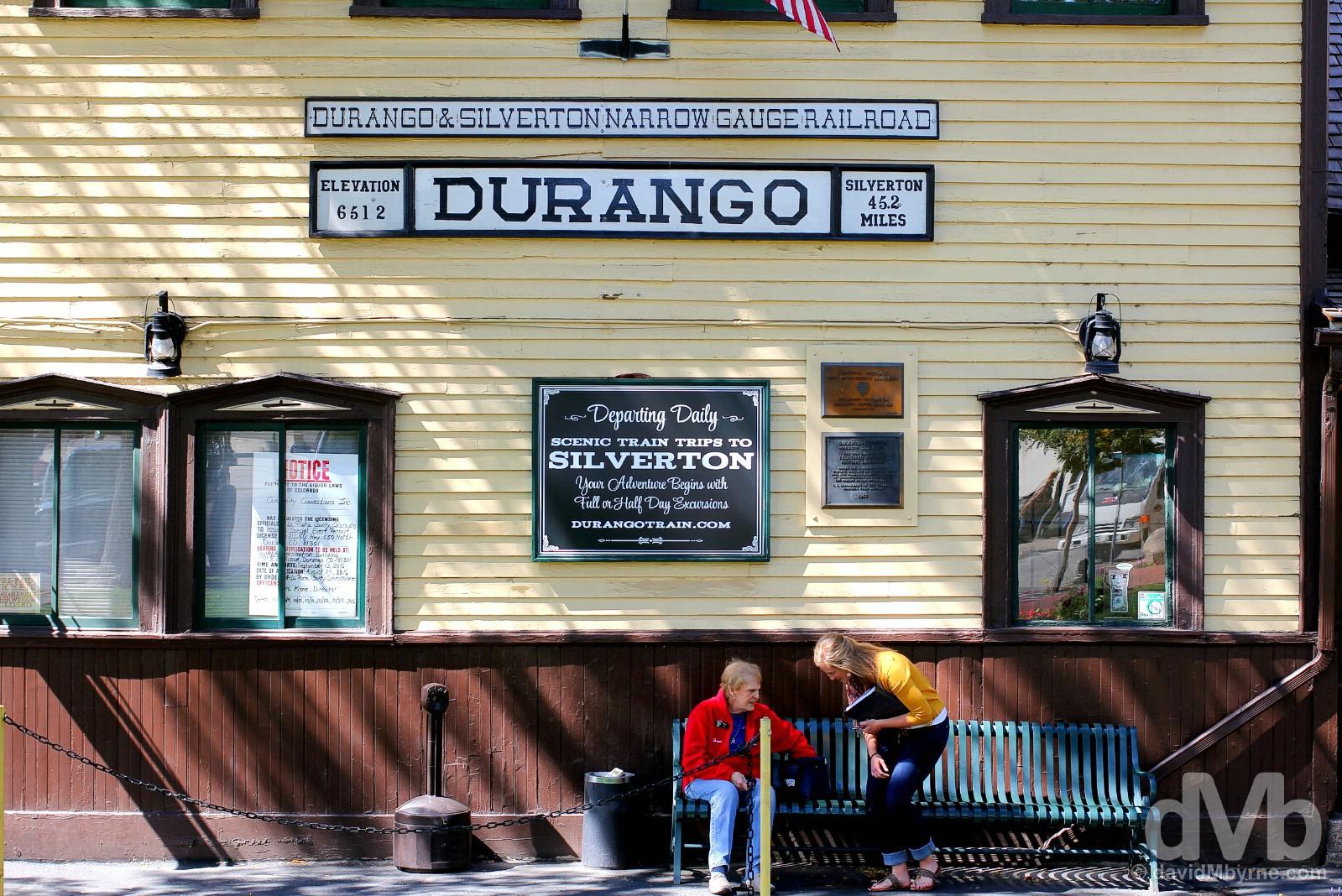 The Durango & Silverton Narrow Gauge Railroad Depot, Main Avenue, Durango, Colorado. September 12, 2016.