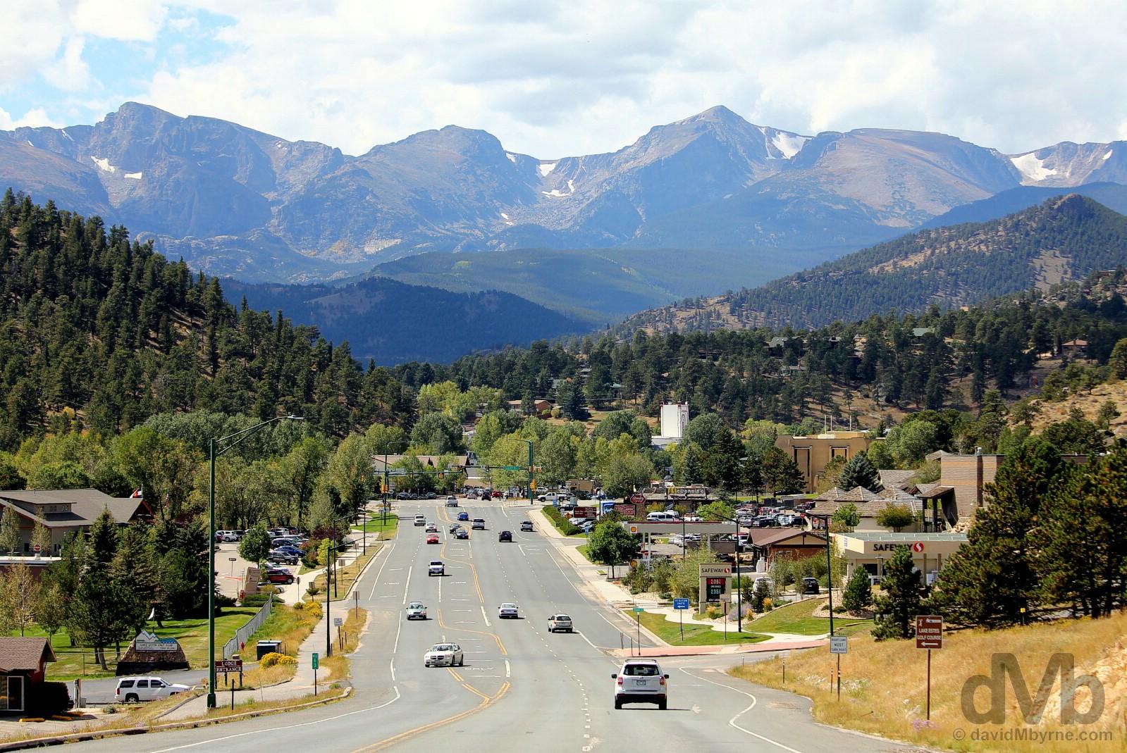 Estes Park, north-central Colorado, USA. September 14, 2016.