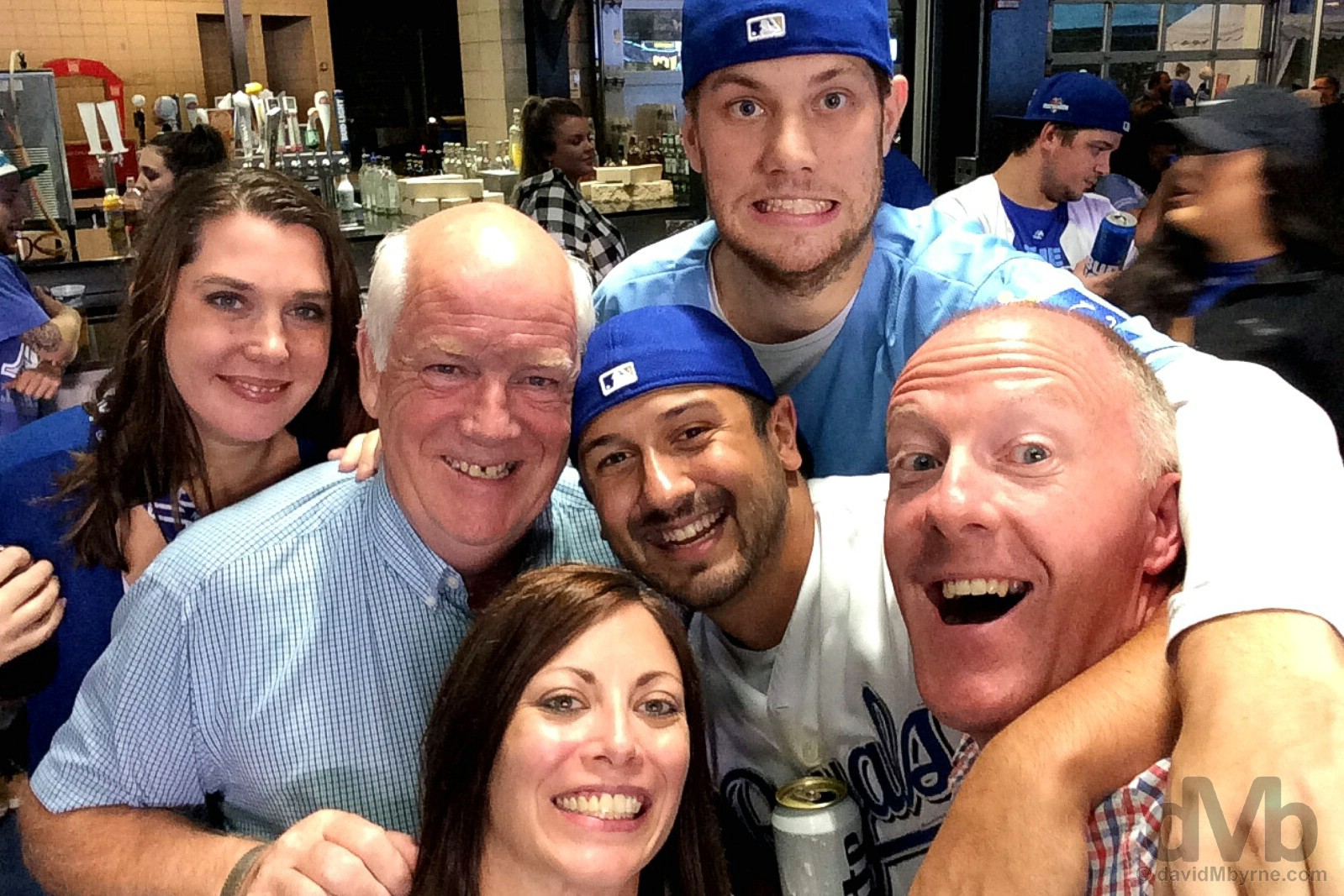Group selfie. Kauffman Stadium, Kansas City, Missouri, USA. September 16, 2016.